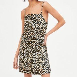 Zara strappy leopard mini dress